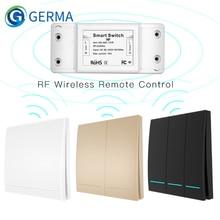 Interruptor inteligente inalámbrico de 433Mhz, receptor de Control remoto RF, controlador de botón, transmisor de Panel de pared, MultiControl de 2 vías/3 vías