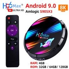 H96 MAX X3 Smart TV Box Android 9.0 avec RAM 4G ROM 32G 64G 128G Amlogic S905X3 2.4G WIFI BT4.0 Google Media Play Andorid TV Box