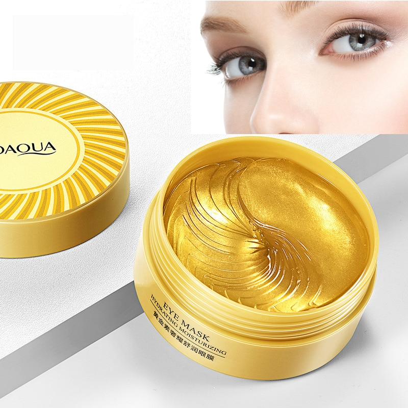BIOAQUA 60pcs Gold Collagen Eye Mask Anti Wrinkle Sleep Crystal Eye Patch Moisturizing Dark Circles Remover Eye Mask Eye Care недорого