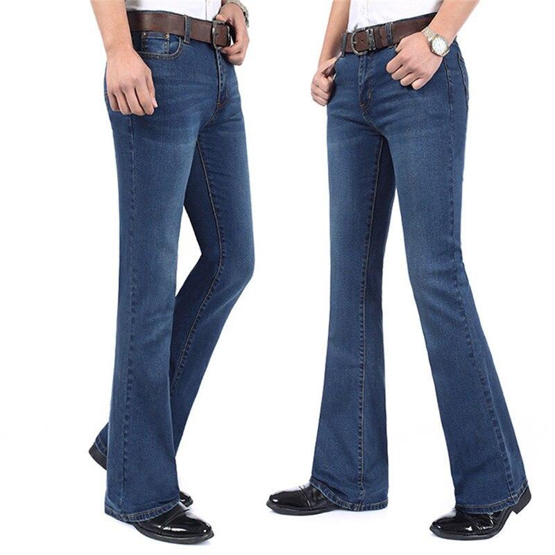 Pantalones vaqueros Acampanados para hombre Pantalones vaqueros largos de cintura alta acampanados...