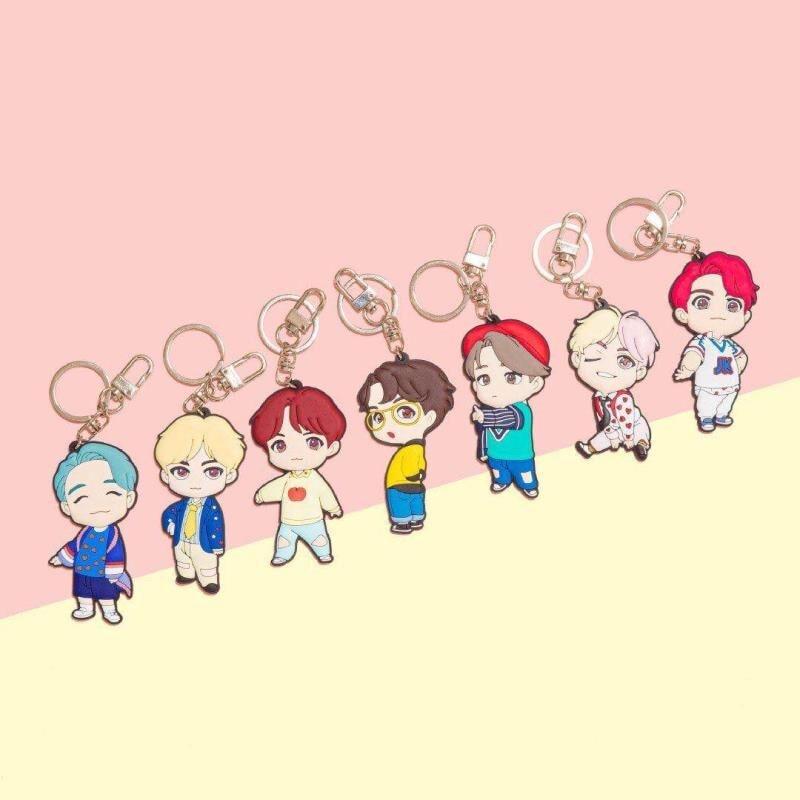 Kpop Bangtan Boys JK Q Style House Same Style Acrylic Keyring Keychain Bag Pendant Hot Sale