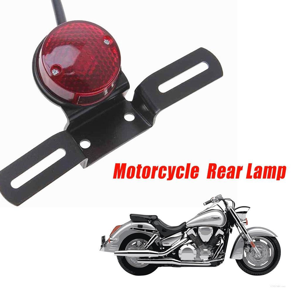 AliExpress - Motorcycle Retro Red Rear Tail Brake Stop Light Lamp W/ License Plate Mount for Harley Honda Suzuki Chopper Bobber