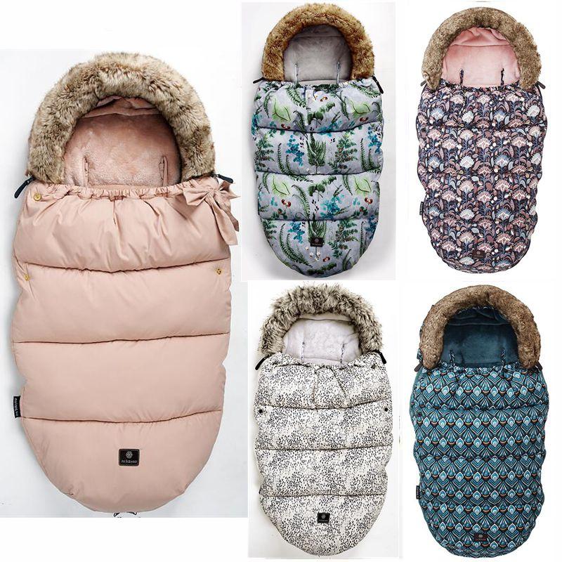 Baby Stroller Sleeping Bag Winter Warm Sleepsack Windproof For Infant Wheelchair Envelopes  Footmuff