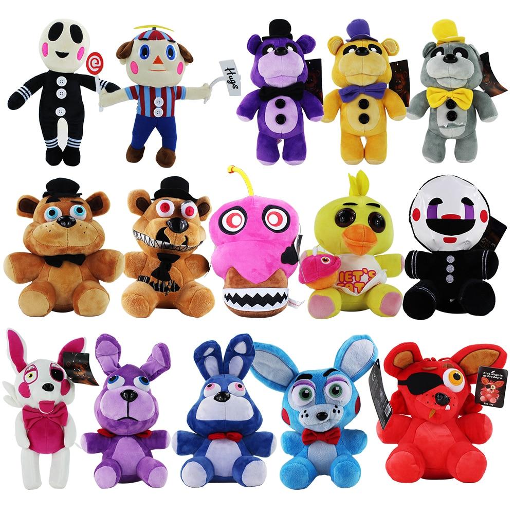 20-30cm FNAF cinq nuits au cauchemar de Freddy Fazbear ours dor Chica Foxy Bonnie lapin animaux peluche pendentif jouets
