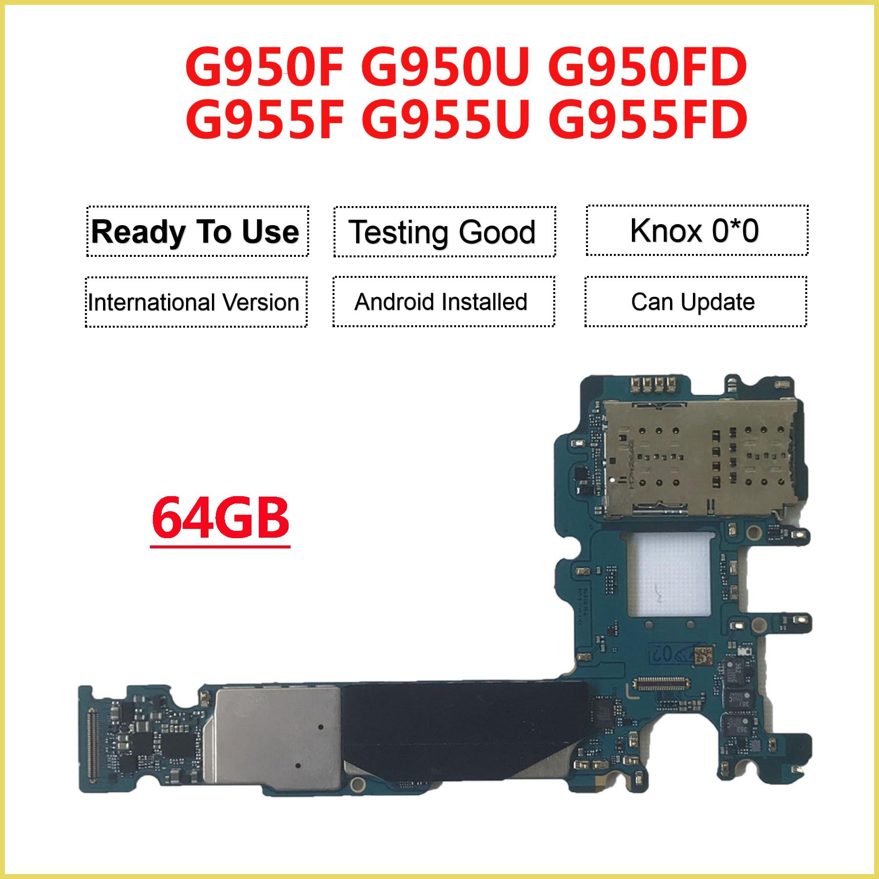 Reemplazo de la placa base principal desbloqueada de 64GB para Samsung Galaxy S8 + Plus G955F G955FD G950FD S8 G950F G950FD G950U
