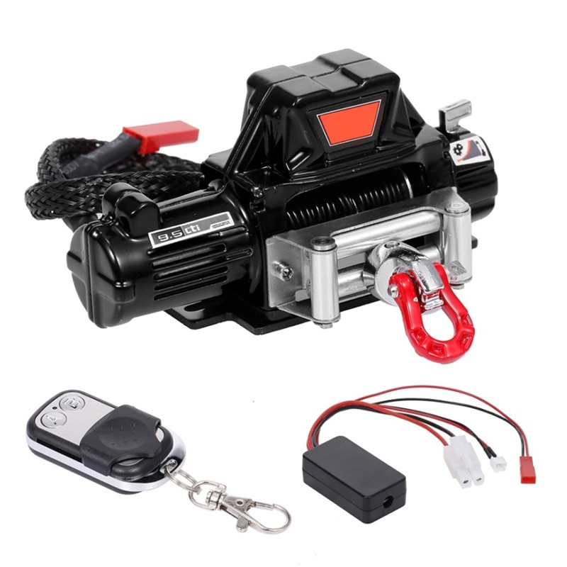 Automatic Winch and Wireless Remote Controller Receiver for 1/10 RC Crawler Car Axial SCX10 TRAXXAS