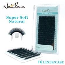 NATUHANA 16 rangées B C D Curl chine Premium individuel artificiel faux cils naturel vison cils soie faux cils Extension
