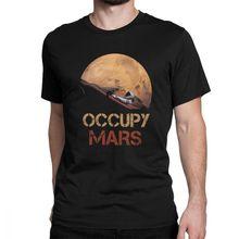 Occuper Mars T Shirt Spacex Starman T-Shirt hommes Elon musc Falcon lourd 9 manches courtes nouveauté t-shirts col rond 100% coton vêtements