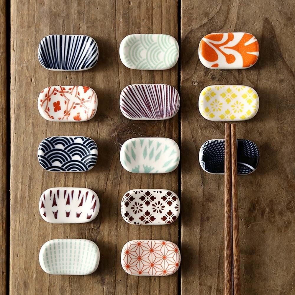 Подставка для палочек для еды, керамическая подставка, домашняя кухонная подставка для палочек, японская декоративная эко-ложки, вилка, посуда