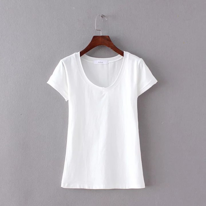 2018, camiseta informal para mujer, camisetas de moda, camisetas de manga corta, camisetas sueltas con cuello redondo para mujer
