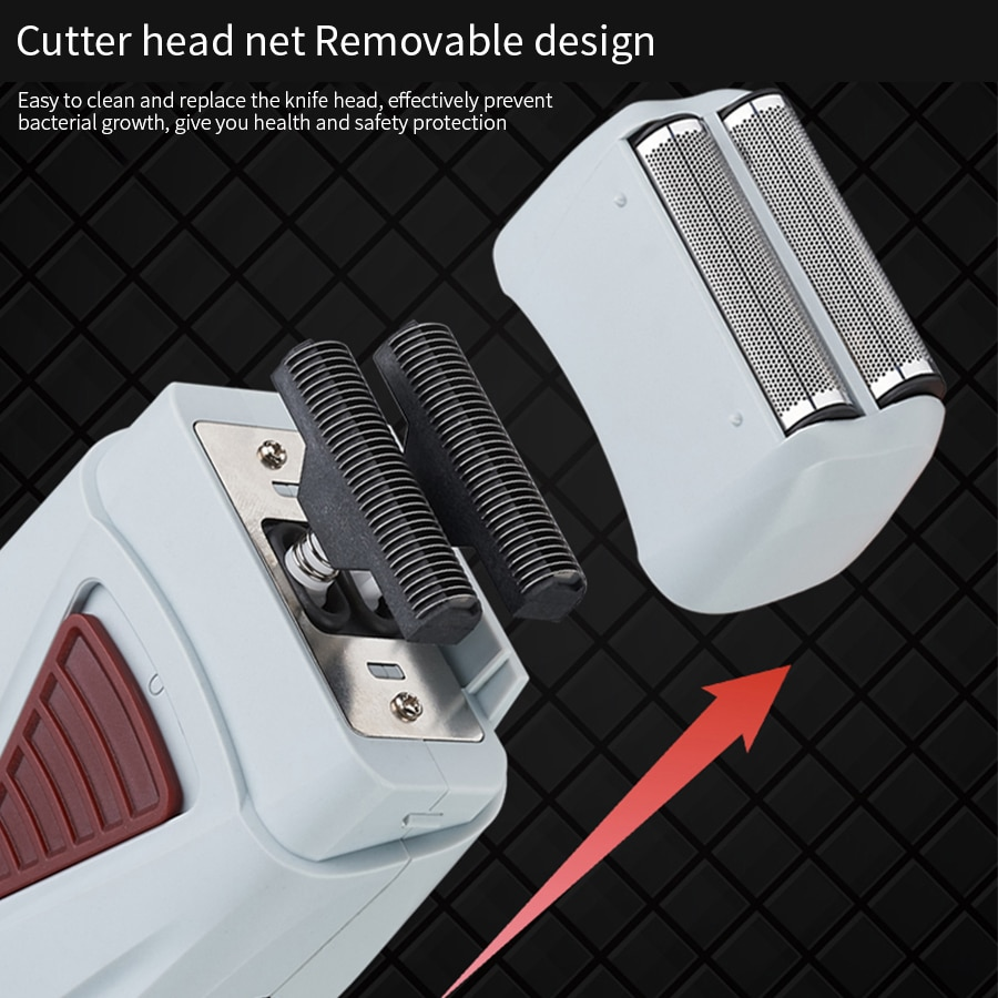 Electronic Razor Men Twins Blades Shaver Haircut Head Shaver Twice blade Hair Clipper rechargeable USB enlarge