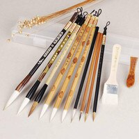 Chinese Painting Brush Set Freehand Landscape Flower 11pcs/set Hook Line Brushes Chinese Calligraphy Brush Pen Painting Supplies