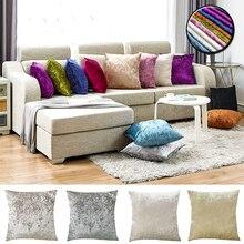 Velours écrasé housse de coussin couleur unie taie doreiller 45x45cm Beige gris décoration Kussenhoes pour salon canapé décor à la maison