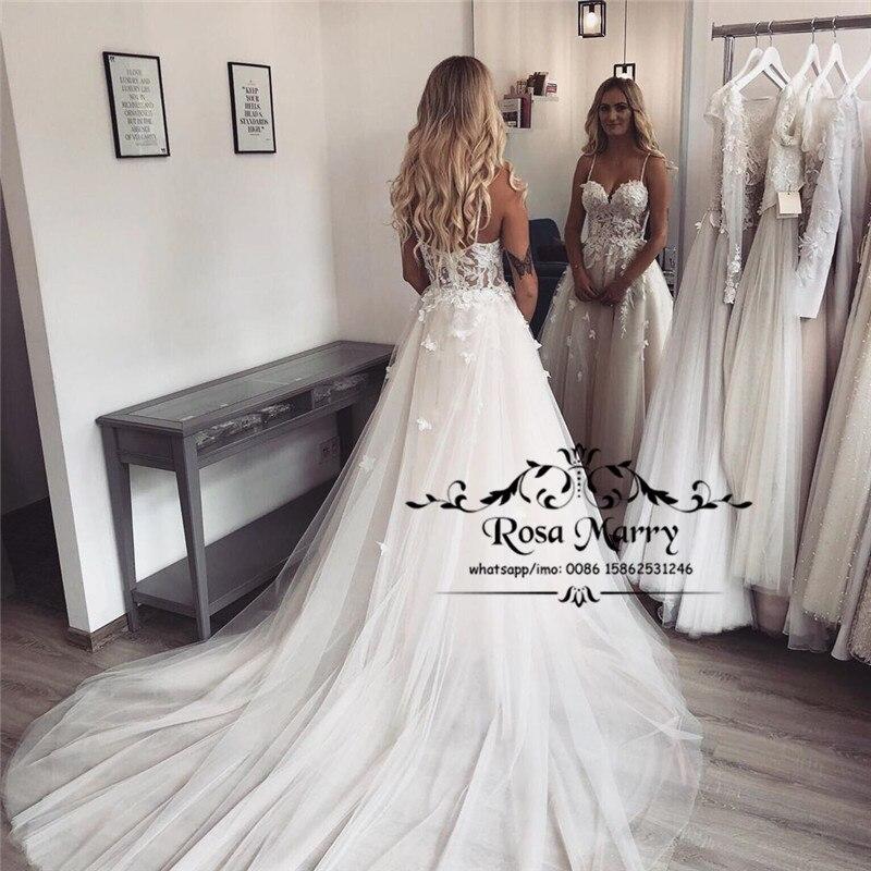 Vestidos De boda país modestos De talla grande, baratos, 2020, línea A,...