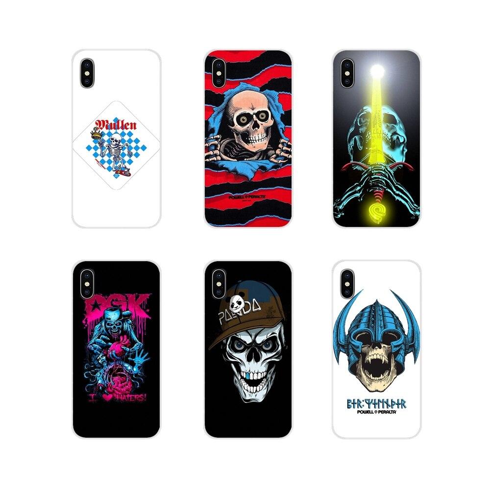Acessórios capa de telefone powell peralta para apple iphone x xr xs 11pro max 4S 5S 5c se 6 s 7 8 plus ipod touch 5 6