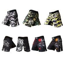 Vente Mma Shorts muay thai boxe pantalon boxeo sanda sport camouflage kickboxing combat hommes grappin