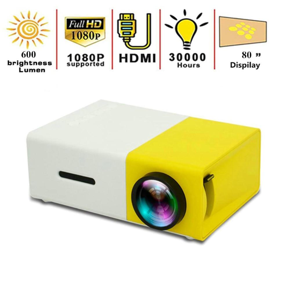 Mini proyector LED YG300 de 320x240 píxeles compatible con 1080P HDMI, proyector portátil de Audio USB, reproductor de Video doméstico para niños