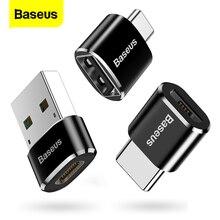 Baseus USB 유형 C OTG 접합기 USB C 남성 macbook를위한 마이크로 USB 여성 케이블 변환기 Samsung S10 Huawei USB To Type-c OTG