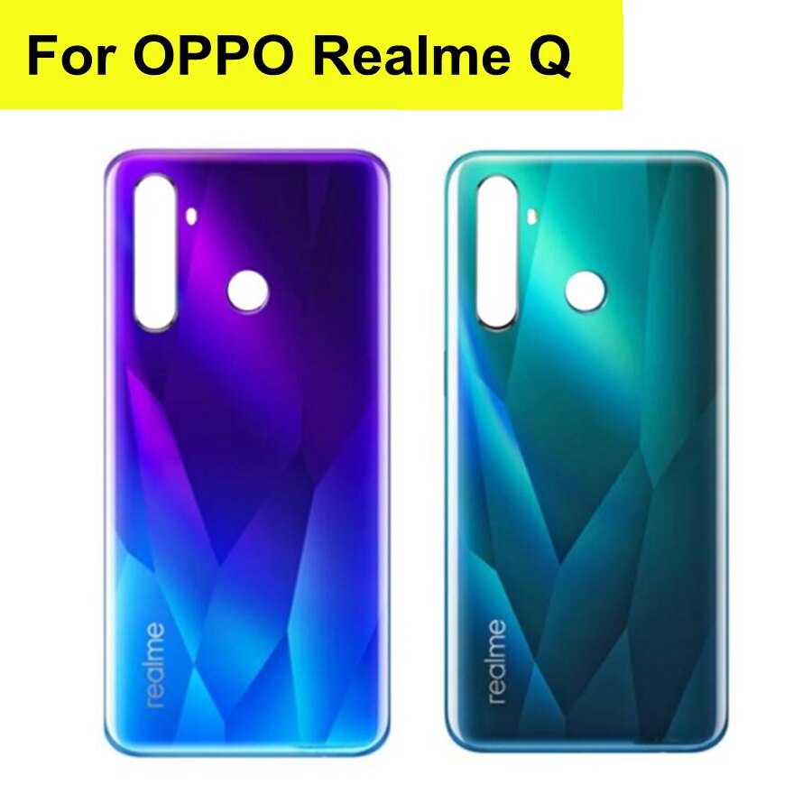 6.3 For OPPO Realme Q Back Battery Cover Rear Housing Door Glass Case For Realme Q Battery Cover lora r dagi glass ophthalmology q