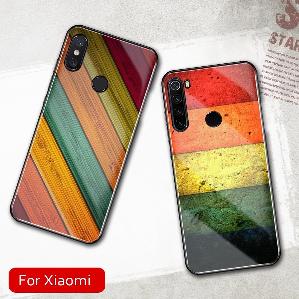 FinderCase для Xiaomi Mix 2 s, чехол из закаленного стекла, Жесткий Чехол С Разноцветными полосками для Xiaomi Mi 8 9 SE lite Mix 2 2s 3 Max 3