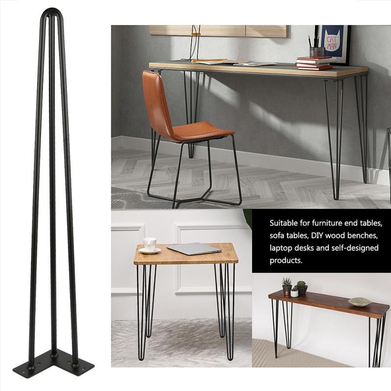 4Pcs Metal Hairpin Legs Hairpins Table Skids Hairpin Legs Table Legs Interchangeable Table Foot Bracket DIY Handcrafts Furniture