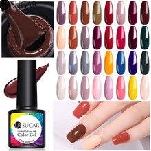 Vernis à ongles de couleur UV de vernis à ongles de série dautomne du sucre 7.5ml imbibent le vernis LED Semi Permanent de Gel de LED dur