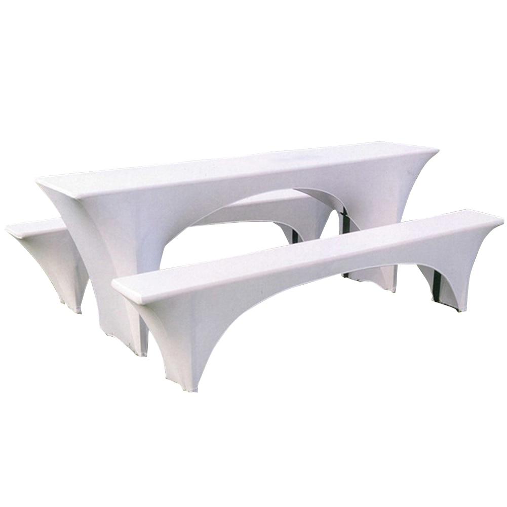 3 uds. Mantel ajustable resistente a la decoloración reutilizable al aire libre BBQ Patio Picnic comedor tela elástica juego de cubierta de mesa Parque Camping