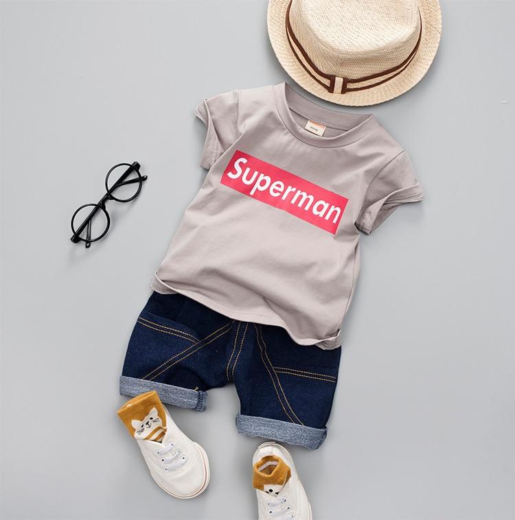 Lookykit conjunto de ropa de bebé ropa de niños 2019 verano nuevo mediano y pequeño niños 1-3 bebé niño