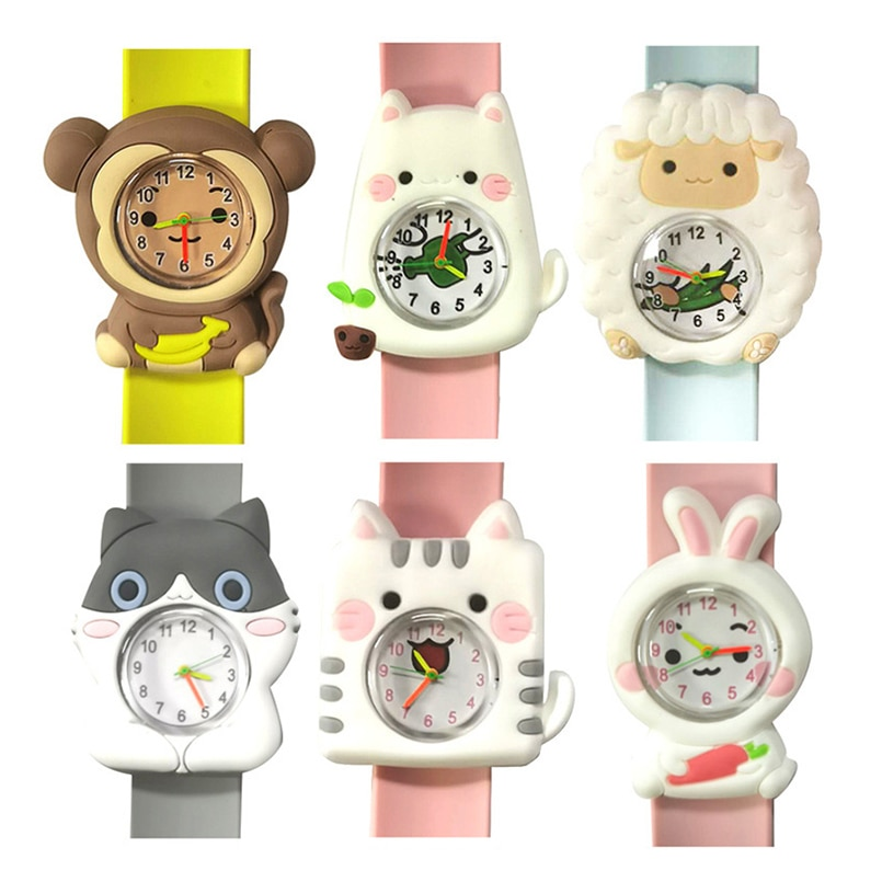 Fashion Baby Watch 3D Cartoon Cute Kids Wrist Watches Children Student Electronic Watch Clock for Gi
