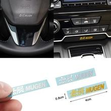 For Honda Mugen Power Accord CRV Hrv Jazz Car Accessories Aluminum Alloy MUGEN Emblem Stickers Badge Decor Car Styling Decals