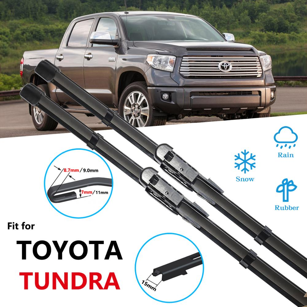 Para Toyota Tundra 2001 ~ 2017 limpiaparabrisas cuchilla accesorios de coche limpiaparabrisas 2002, 2003, 2004, 2007, 2008, 2010, 2013, 2014, 2015, 2016