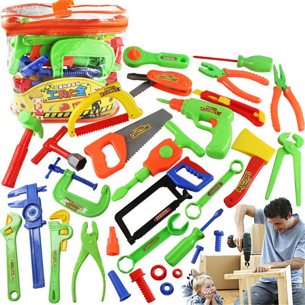 32 Uds. Herramientas educativas de reparación de carpintería para niños juguetes de simulación juguetes para jugar a las casitas juguetes de aprendizaje temprano para bebés