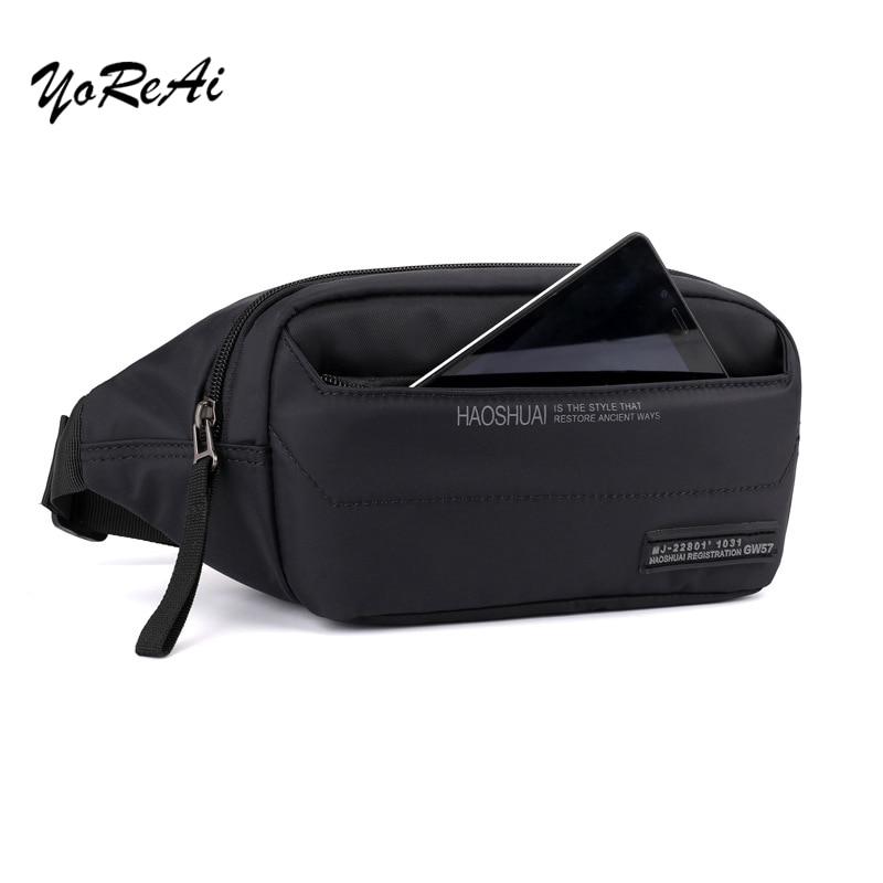 Outdoor Waist Belt Bag Letter Casual Men Fanny Pack Traveling Bumbag Shoulder Bags Crossbody Zipper Chest Phone Purse Pouch Boy