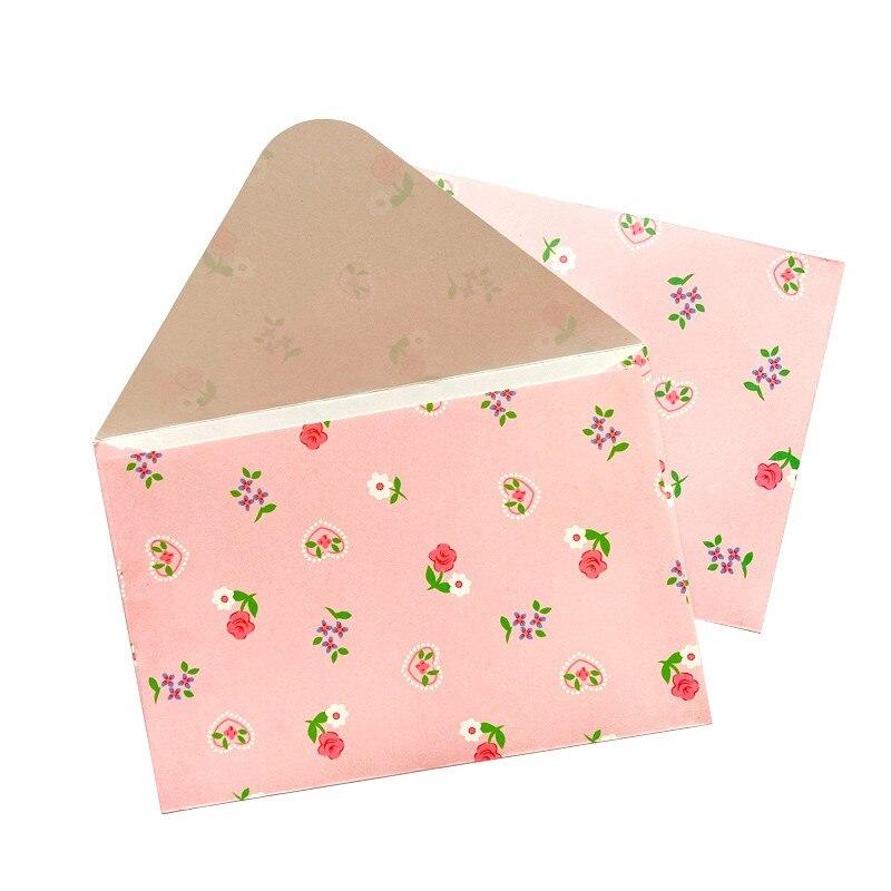 100 pcs por atacado rosa presente envelope floral casamento convites papelaria aberto