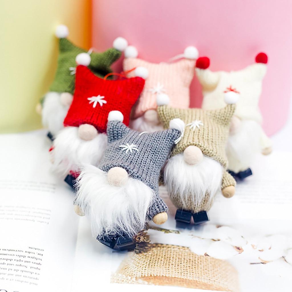 Colgante De muñeca De lana sin rostro para Navidad, decoración De árbol...