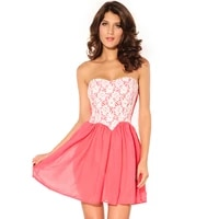 free shipping 2016 short dress summer new ladies pink dipped waist dress perspective party clubwear