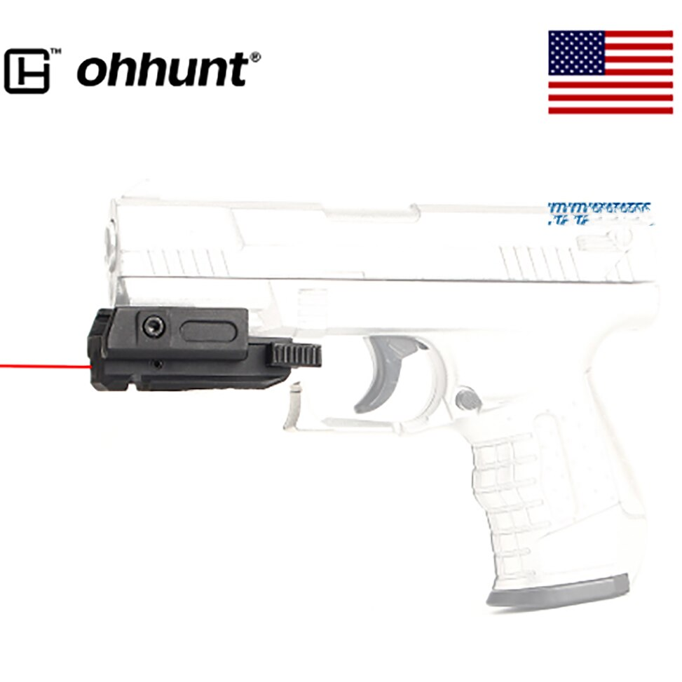 Mira telescópica láser de punto rojo con pistola de bajo perfil, puntero láser AR15 20mm, Picatinny, montaje Weaver