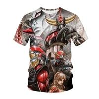 anime grendizer t shirts ufo robot goldorak 3d print streetwear men women fashion t shirt kids tees tops harajuku boys clothing