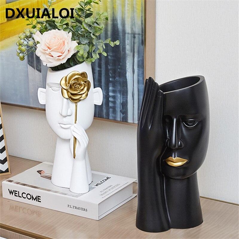 مزهرية إبداعية على الطراز الاسكندنافي ، خزانة نبيذ ، غرفة معيشة ، ضوء ، ديكور منزلي فاخر ، طاولة قهوة ، ترتيب زهور بسيط