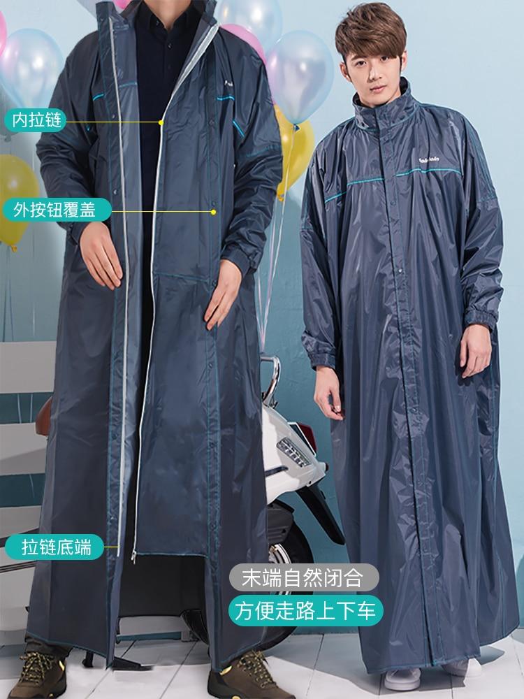 Raincoat Long Coat Women Breathable Windbreaker Men Adult Rain Coat Suit Motorcycle Double Rain Poncho Hood Hiking Travel 2021 enlarge