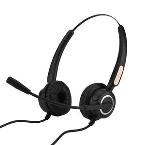 Call Center USB Headset With Microphone For Computer Telephone Desktop Box Light Weight Noise Cancelling Headphone