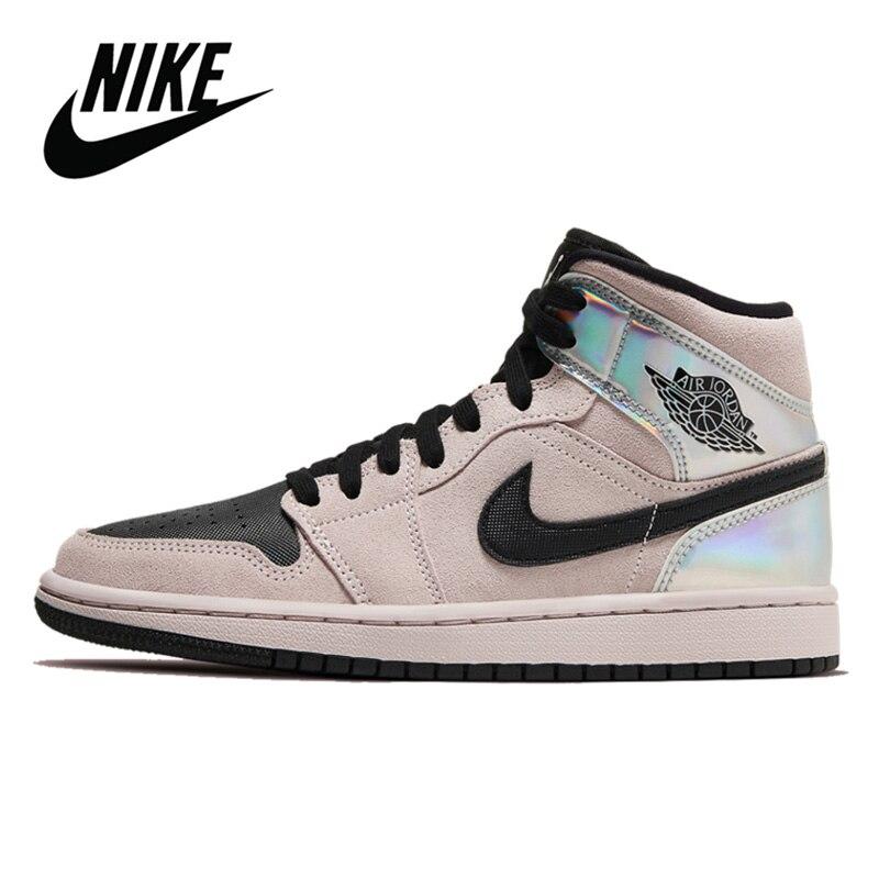 Zapatillas de baloncesto originales Nike Air Jordan 1 Retro High og, zapatillas de baloncesto para mujer, Nike Air Jordan 1 Mid Chrome Wings