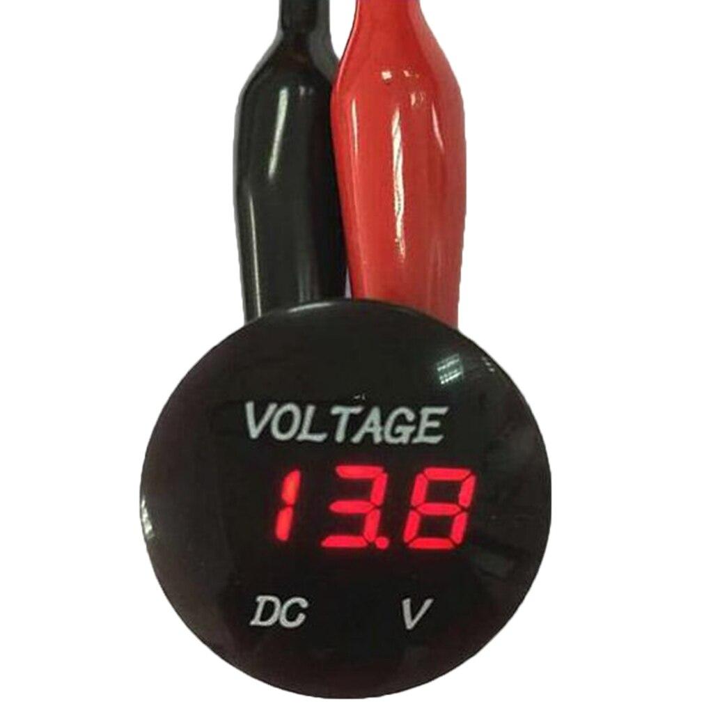 DC 6-30V rojo LED Digital voltímetro voltaje Monitor de potencia coche motocicleta