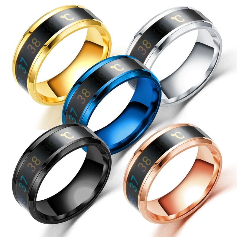 FACEINS Magic Ring For Women and Man Temperature Displays Smart Rings Personality Titanium Steel Finger Jewelry Accessories
