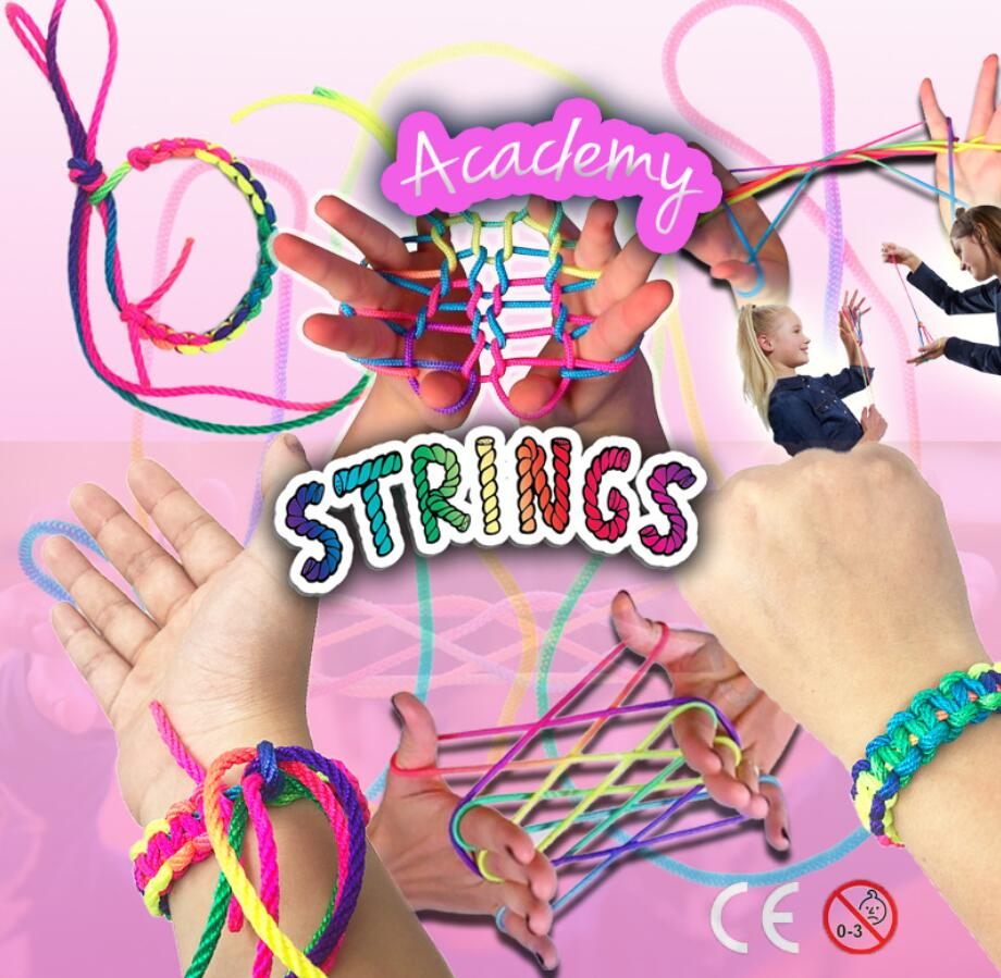 Stringz Rainbow Rope Kid's Toys Montessori Ztringz Finger Rope Game Thread Toy Puzzle Creates Board Game Team Interaction Toys