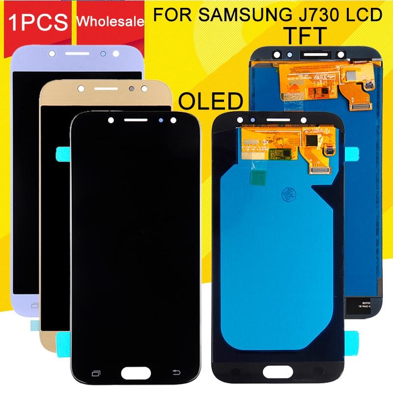 Pantalla publicitaria J7 2017 para Samsung Galaxy J730 LCD J730F J7 Pro MONTAJE DE digitalizador con pantalla táctil