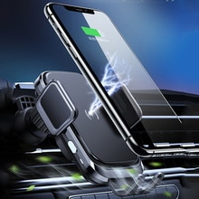 Wireless charger 15W mobile phone wireless charger car exhaust port car phone holder for iPhone 1211 Xiaomi Samsung 9 10