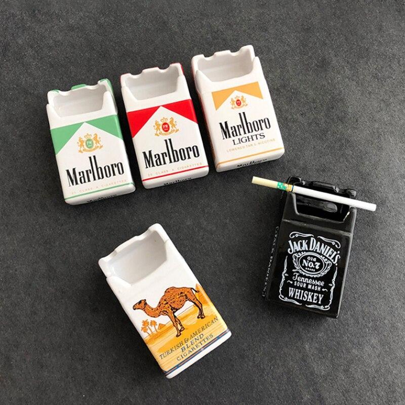 Cenicero de cerámica de diseño único con personalidad del cenicero para tabaco, cenicero para dormitorio, Cenicero decorativo, cenicero para cigarrillos