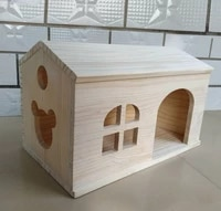 rectangular chinchilla chalet toy hamster small animal wooden toy house fixed nest pet products chambers pet wooden