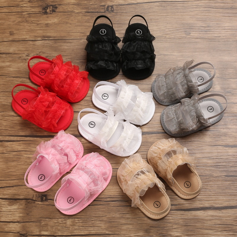 Baby Girl Bow Sandals Flat Heels Toddler Kids Summer Party Wedding Flower  Sandals Shoes